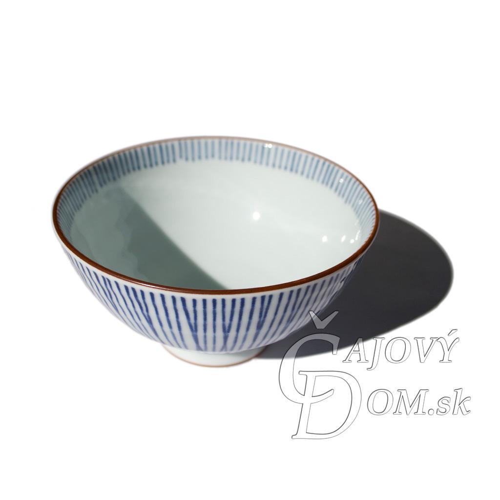 Japonská miska - modré pásiky