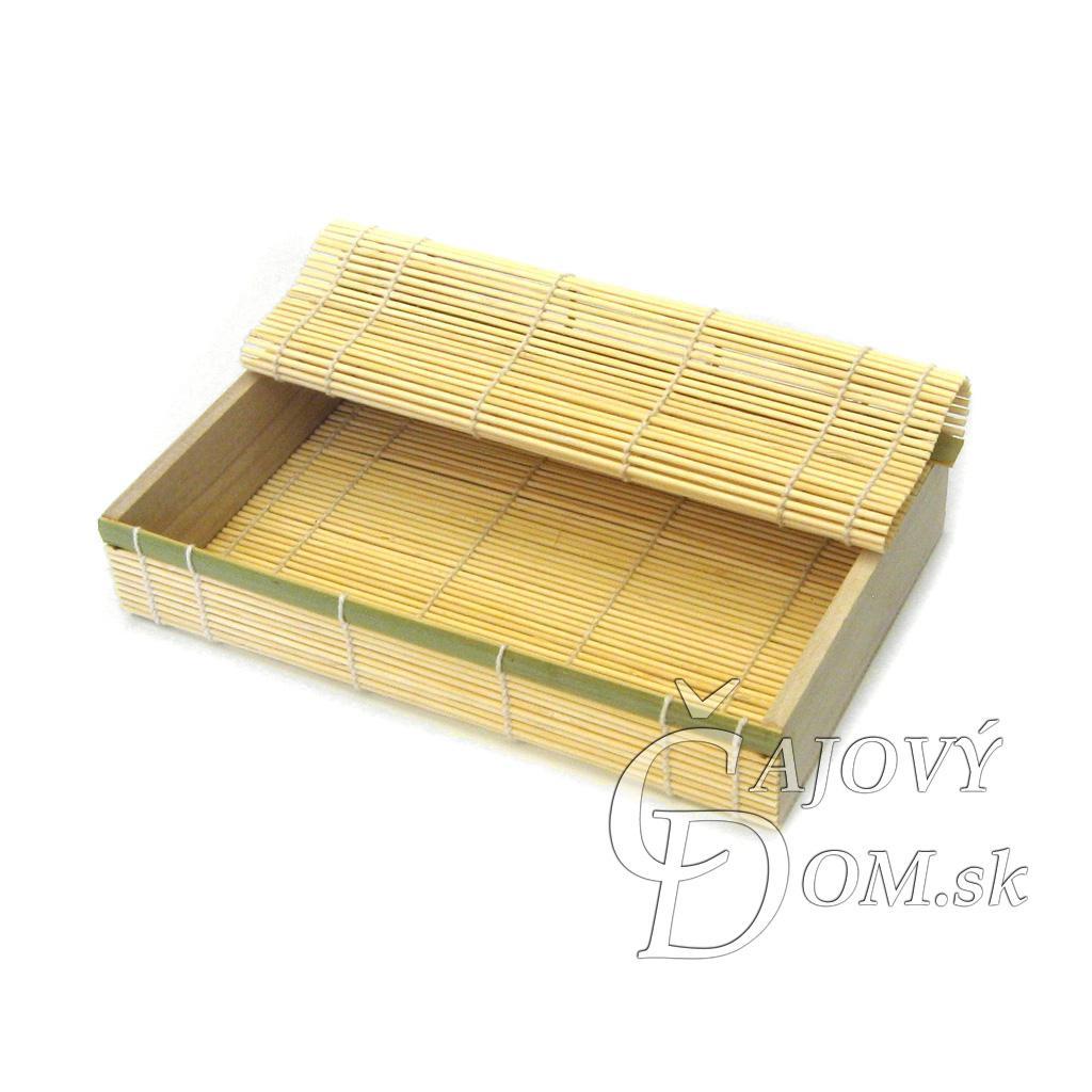 Krabička 23x15cm - svetlá bambusová
