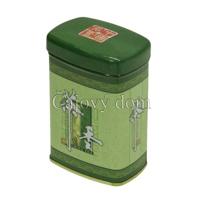 Dóza na čaj zelená znaky