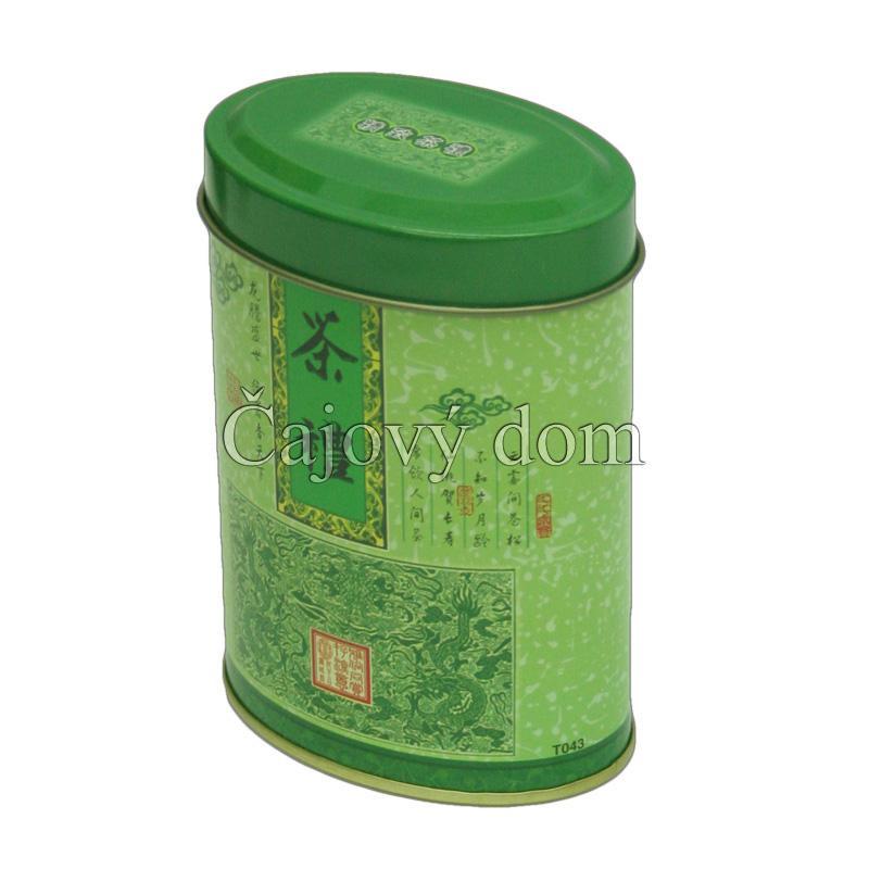 Dóza na čaj elipsovitá zelená