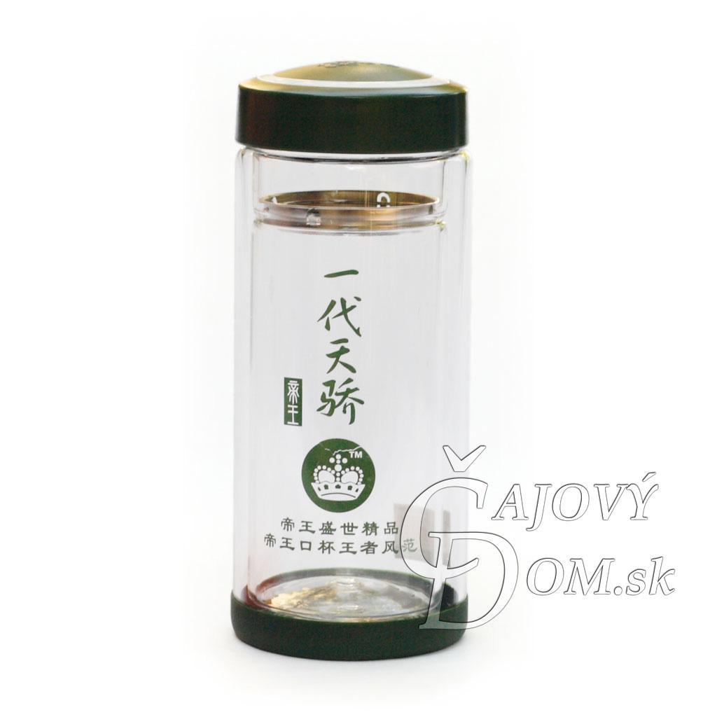 Zavarovačka na čaj sklenená - zelené prúžky (ilustračné foto)