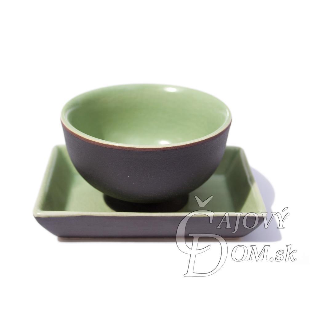 Vietnamská seladonová miska s tanierikom - zelená