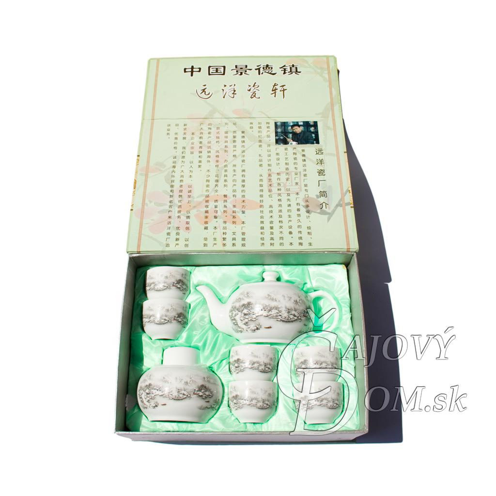 8 dielna súprava yixing - zasnežená krajinka