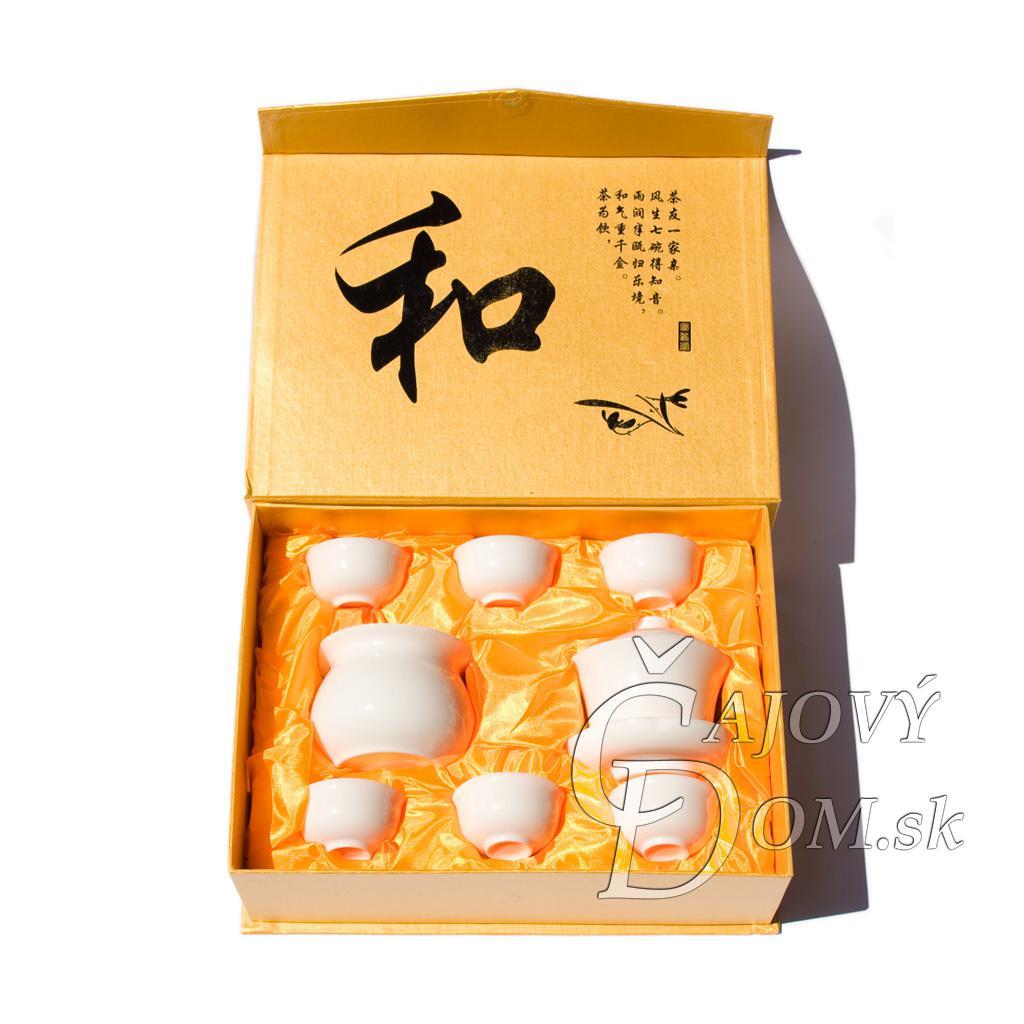 8 dielna súprava porcelánova - žltý box