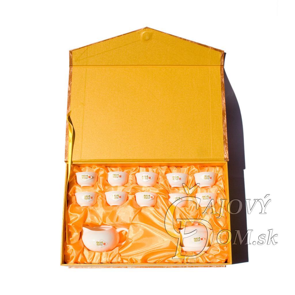 12 dielna súprava porcelánova - žltý box