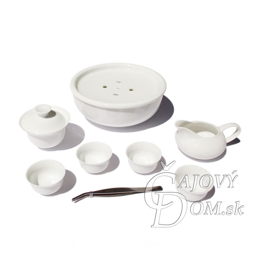 Cestovná sada s čajovým morom - 7 dielna, porcelán