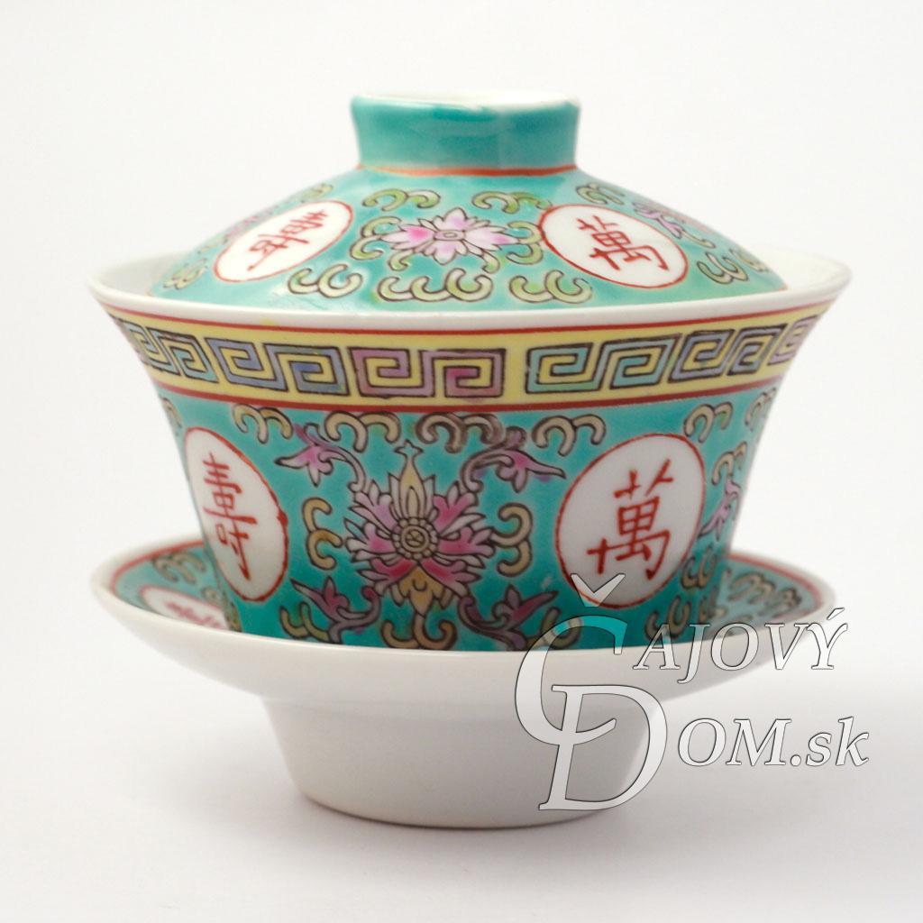 Zhong porcelánový znaky dlhovekosti - zelený