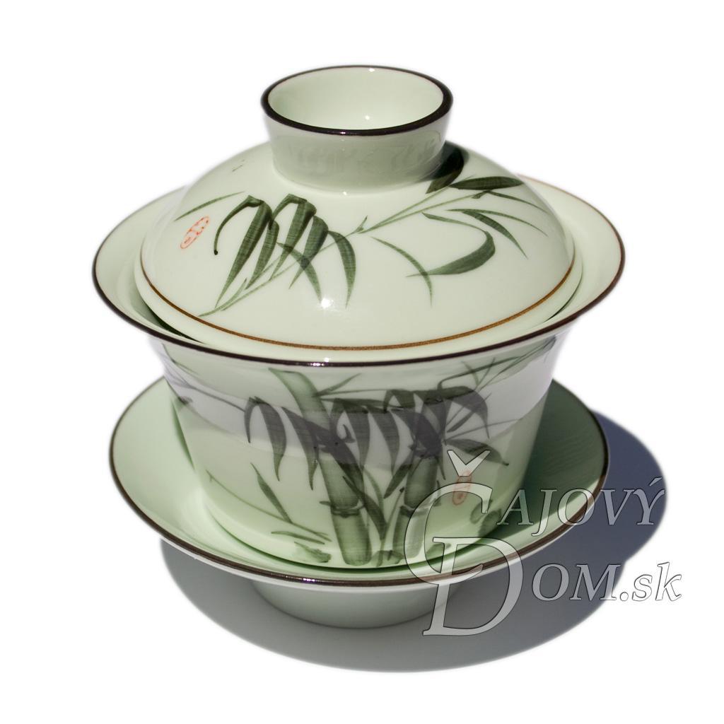 Porcelánový zhong zelený - bambus