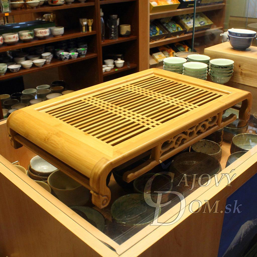 Čajové more bambus mriežka