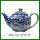 Porcelánová konvička - modrý drak