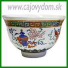 Miska na čaj - farebná - kvety