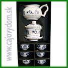 Súprava porcelánová modro - biela